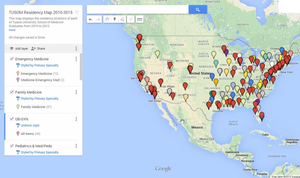 TUSOM Residency Match Map AAMC Student Representatives - World map program